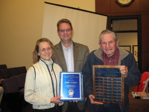 Debbi Waldear is presented with 2011 Andy Award from CWSD Chairman Doug Johnson and Andy Aldax.